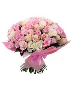"""Букет из 101 розы """"Ассорти"""""""