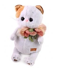 Кошка Ли-Ли с цветами из шёлка