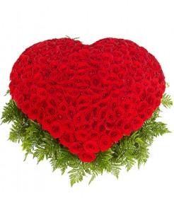 Сердце 301 роза