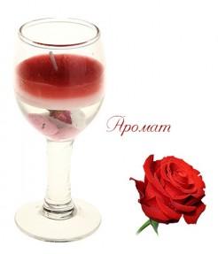 Ароматическая свеча Роза