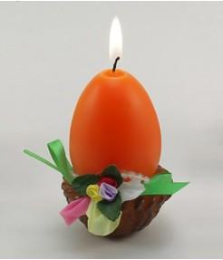 Пасхальная свеча Яйцо в корзинке