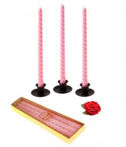 Набор свечей 3 шт Роза