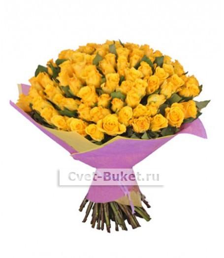 """Букет - """"101 желтая кенийская роза """""""