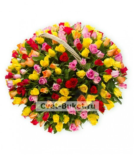 Корзина 201 роза Кения