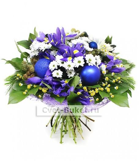Новогодний букет - Голубые огоньки