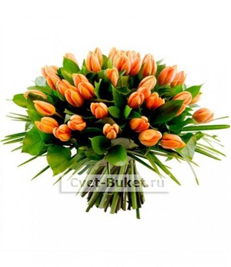 Букеты из тюльпанов - 101 Тюльпан